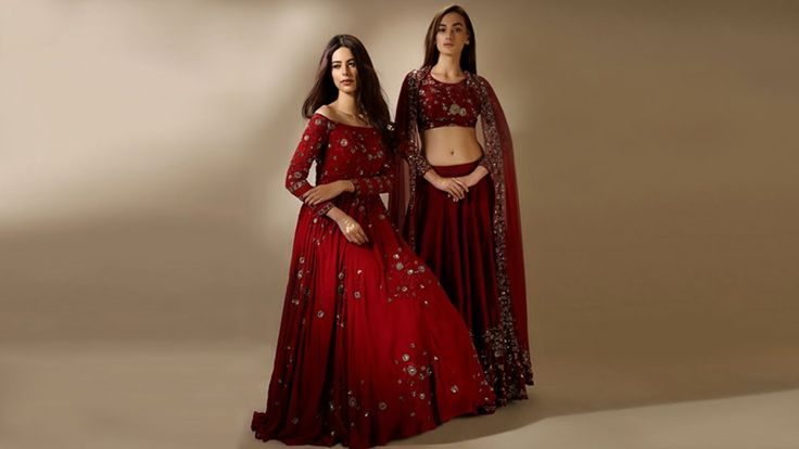Fashionable Women Lehenga with crop tops
