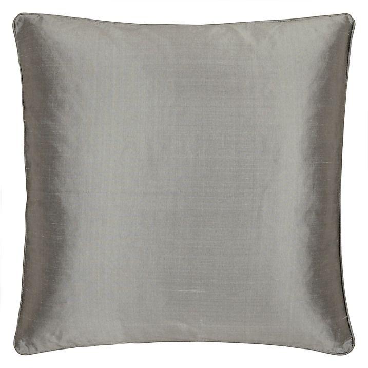 Buy John Lewis Silk Cushion, Silver Grey Online at johnlewis.com