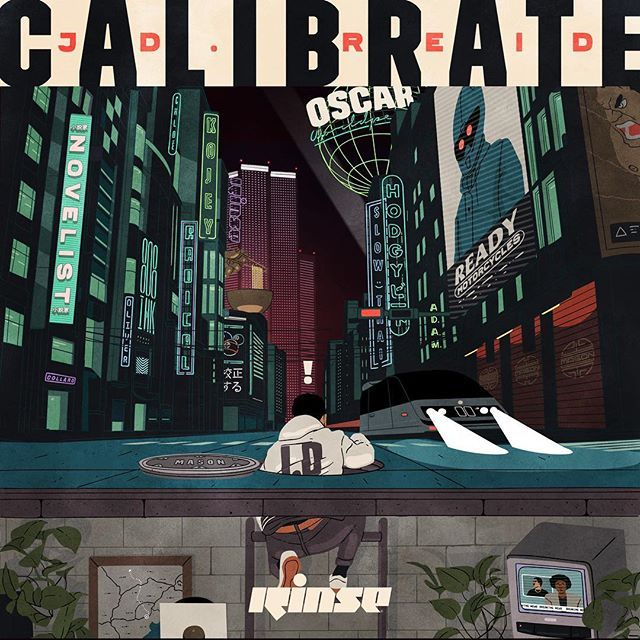 """Artwork I did for @jdreidmusic's new EP """"Calibrate"""". Featuring @kojeyradical @novelistguy @monkmiyagi (hodgy beats) @808inkmusic @slowthai & @worldpeaceoscar. Preview of the first track from the project up on The Fader now.  #designspiration @designspiration by masonlondon"""