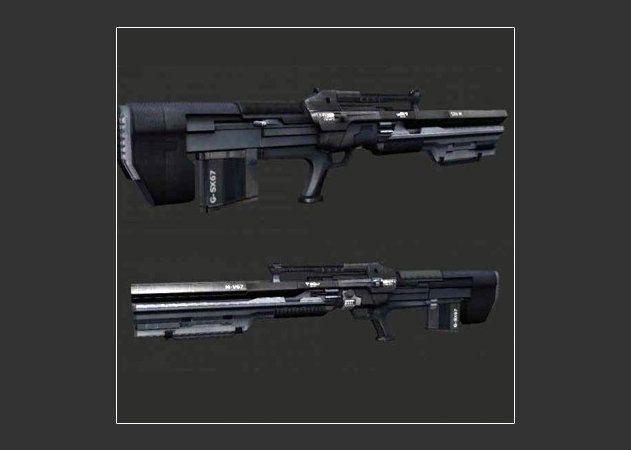 Mô hình giấy GK8 Gauss Rifle - Crysis thiết kế bởi Ky100 | Papercraft GK8 Gauss Rifle - Crysis create by Ky100.