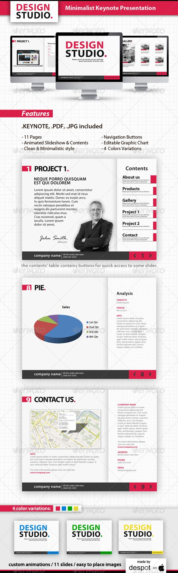 Minimalist Keynote Template - GraphicRiver Item for Sale