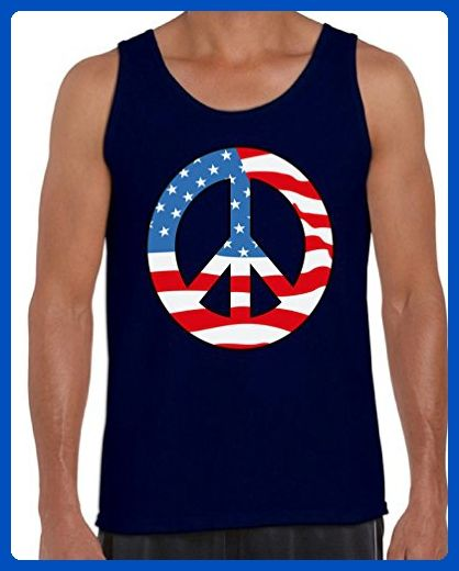 Awkward Styles Men's Peace Flag Patriotic Tank Tops American Flag Peace Sign Navy 2XL - Cities countries flags shirts (*Amazon Partner-Link)