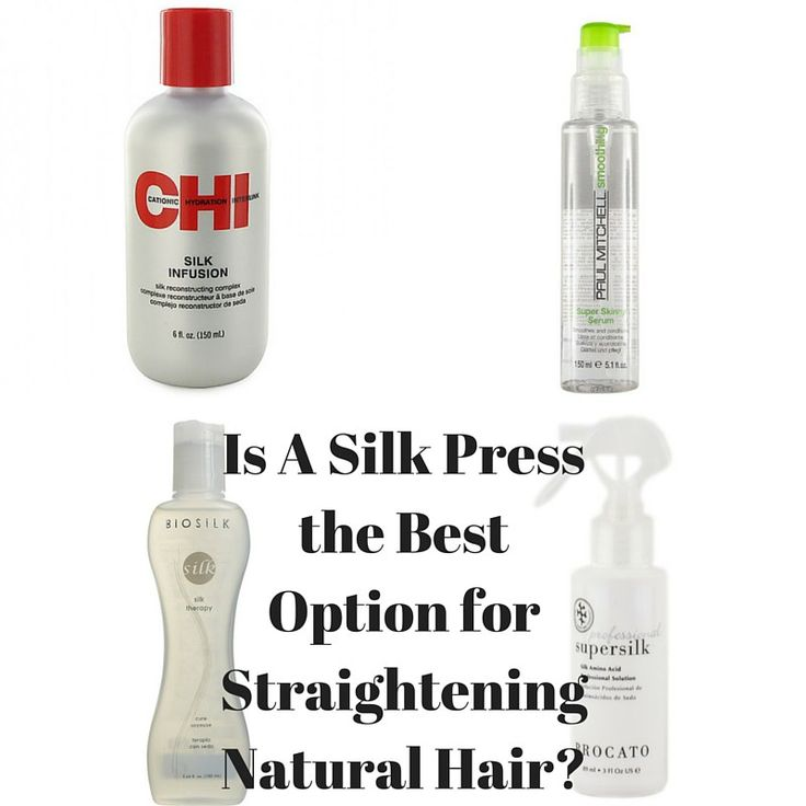 Best Products For Natural Hair Silk Press