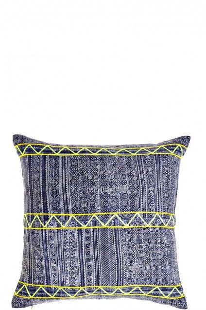 Vintage Hill Tribe Batik Pillow