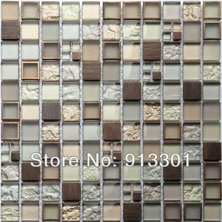 Crystal mosaic tiles mirror pattern kitchen backsplash - Mirror mosaic tile backsplash ...