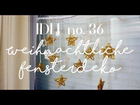 Weihnachtsdeko für Fenster einfach selber machen / Idee no. 36 - YouTube
