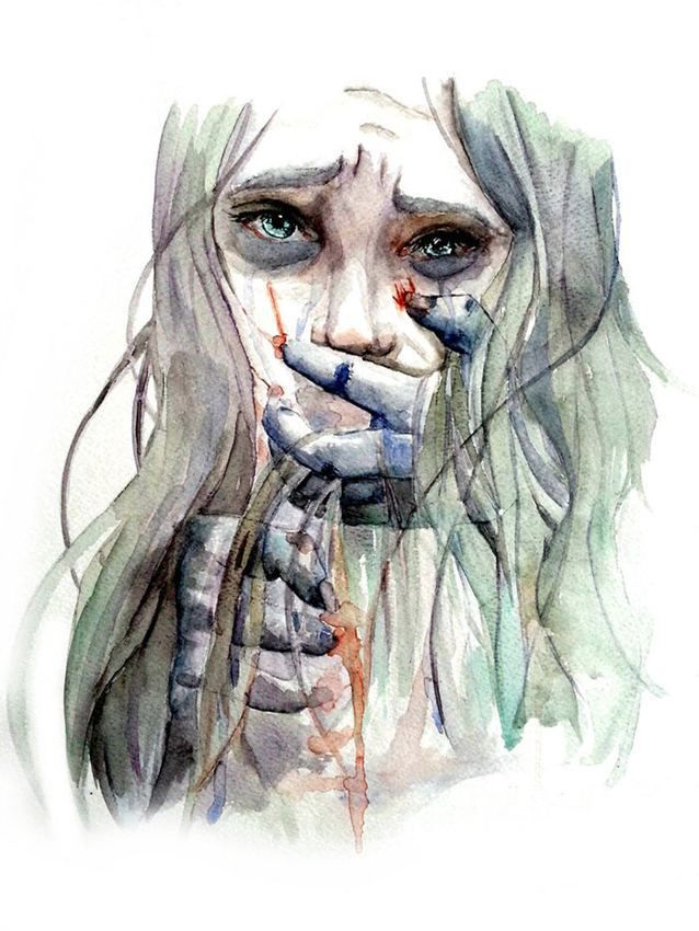 Victims of depression want you to know what's happening to them, but they can't explain well. The pain is so intense that no words could suffice. They feel the monster of mental illness grip them, holding them hostage from the salvation of a sound mind. There is no sanctuary.  Artwork by Emily Clarke