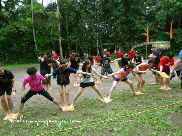 Stepping Mat Games | Bali Garden Team Building Programs