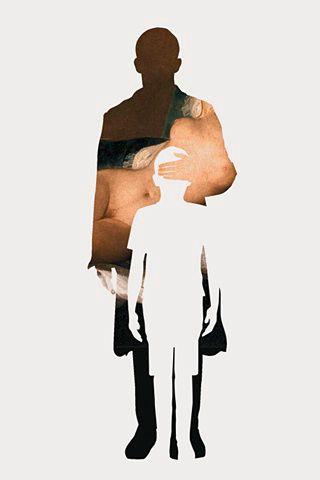 javier jaen Klip en hæl og hug en tå Portræt Kunst Illustrationer Foto Collage