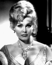 """Zsa Zsa Gabor (born Sári Gábor; February 6, 1917 – December 18, 2016) was a Hungarian-American actress and socialite. Most famours role was on the tv show """"Green Acres""""."""