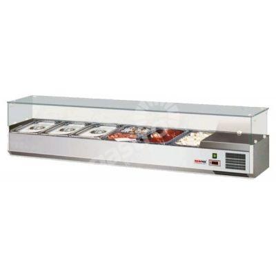 Witryna chłodnicza 6 x GN 1/3 - gł. 150 mm / VSCH - 150