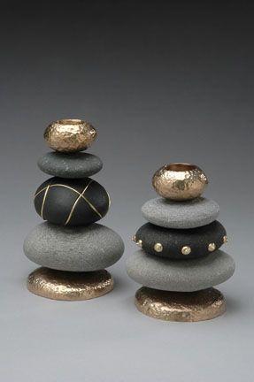 DIY: 20 Ideen, um Kieselsteine in Ihr Dekor zu integrieren