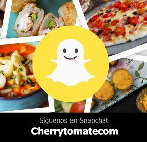 Cherrytomate tiene snapchat! siguelo y enterate de todas las novedades, tips, making up y recetas.