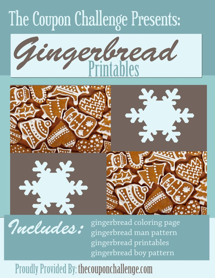 4 Fun (and FREE) Gingerbread PatternsGingerbread Pattern, 20 Freebies, Freebies Printables, Christmas I Stuff, Christmasy Stuff, Gingerbread Printables, Free Gingerbread, Freebies Include, Everything Christmas