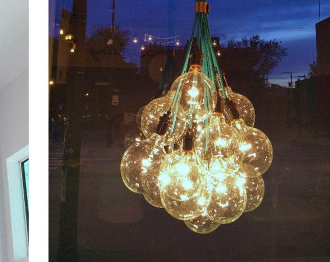 14 globe Bubble hanger Cluster aangepast om het even welke kleuren keuzes Multi hanger kroonluchter verlichting modern doek koorden industriële glas lamp hangend