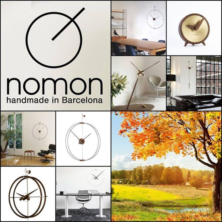 Nasze ekspozycje w Katowicach i Krakowie wzbogaciły się o piękne hiszpańskie zegary Nomon. Na jesienną zmianę czasu :). #barcelonaconcept