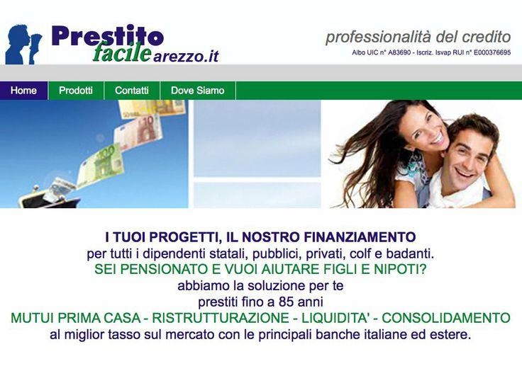 """Web Site - """"prestitofacilearezzo.it"""" http://www.prestitofacilearezzo.it/"""