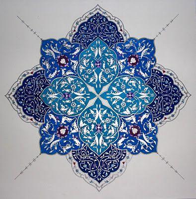 """Persian Illuminations (Tazhib) artwork by Mojgan Lisar: Shamseh """" peace """""""
