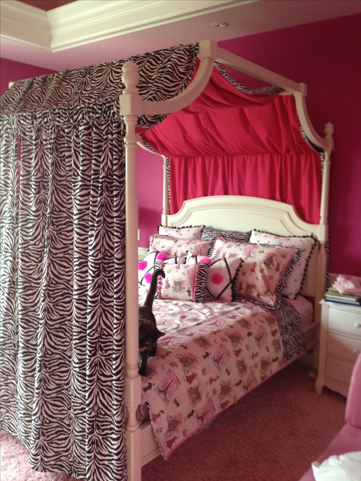 "Zebra bedroom for girls. Duvet cover and 3 24"" x 24"" pillows  $200.00. https://www.etsy.com/listing/193210664/beautiful-paris-zebra-duvet-cover"