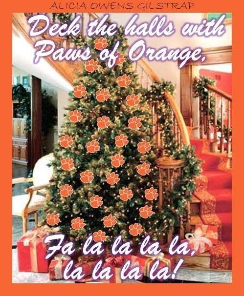 Clemson Christmas Tree: 266 Best Clemson Tigers Images On Pinterest