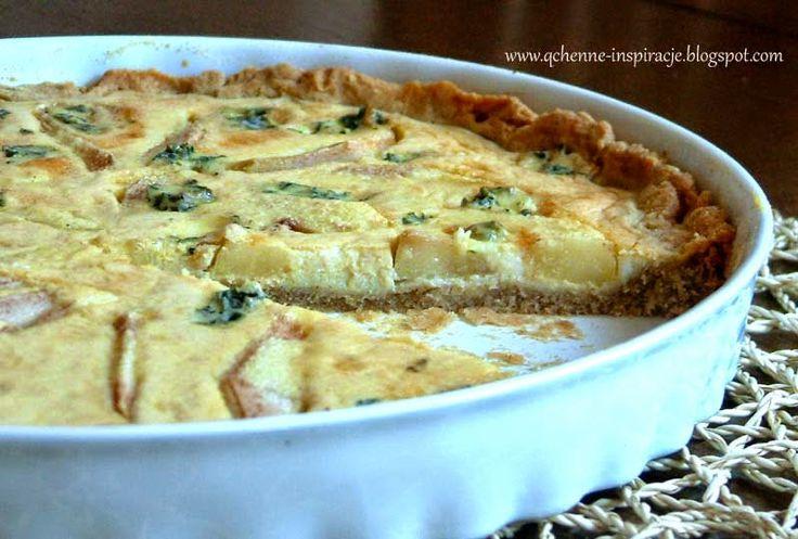 Bezglutenowa, wytrawna tarta z gruszką i serem blue.