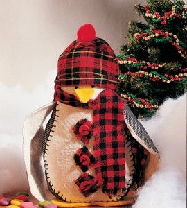 Crafted Penguin Doll | Winter Craft | Sewing Craft | Country Woman Craft — Country Woman Magazine    #countrywoman   #merrychristmas