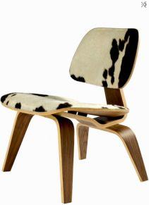 SILLON LCW WALNUT, PIEL BCO NEGRO, CAFE, REPLICA « The Popular Design