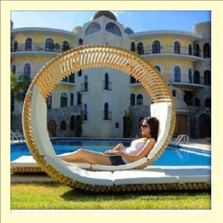 loopita bonita outdoor furniture. This Cool Double Patio Lounger Furniture By Innovative Young Designer Victor M. The Loopita Bonita Inspired Rol. Outdoor A
