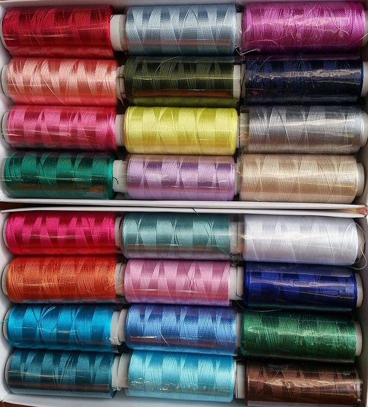25 Spools Set Embroidery Machine Viscose Rayon Silk Embroidery Threads BROTHER JANOME: Amazon.co.uk: Kitchen & Home