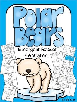 Polar Bear Emergent Reader and Activities includes an emergent reader with both pictures and also one with out pictures so the students can draw their own. Also includes teacher fact cards and a sorting fact activity and writing pages. A fun addition to your arctic animal unit!By BB Kidz