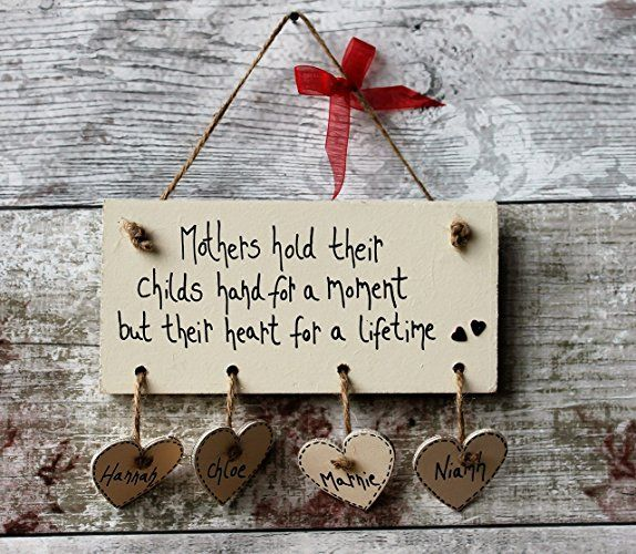 MadeAt94 Handmade Personalised Mothers Gift Plaque 'Mothers hold their child...