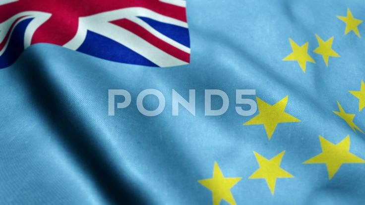 Flag of Tuvalu Beautiful 3d animation of Tuvalu flag in loop mode - Stock Footage | by panuwatsexy