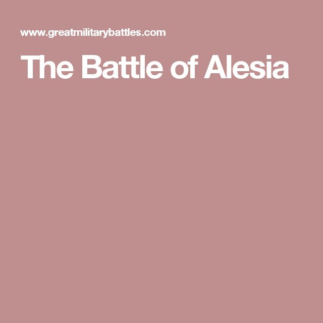 The Battle of Alesia
