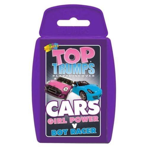 GIRL-POWER-VS-BOY-RACER-CAR-TOP-TRUMPS-Official-Girl-V-Boy-Cards-Travel-Game