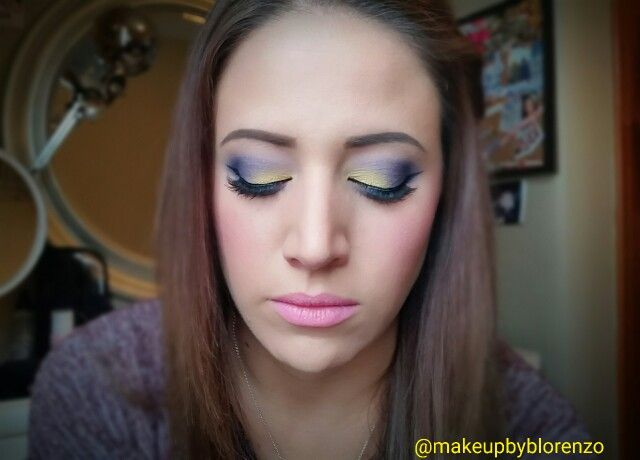 Yellow & purple dramatic eye @makeupbyblorenzo