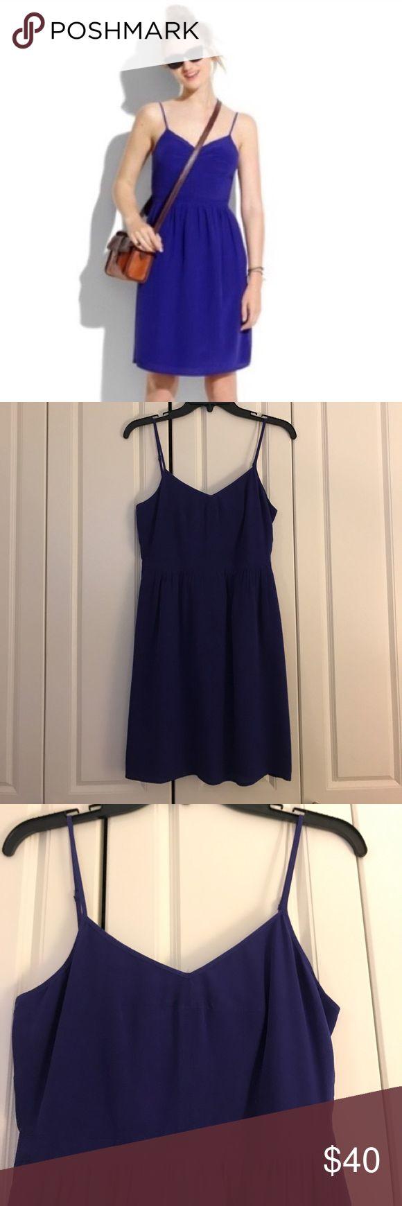 Madewell Silk Cami dress - Indigo - Size 2 Great condition Madewell silk cami dress! Madewell Dresses