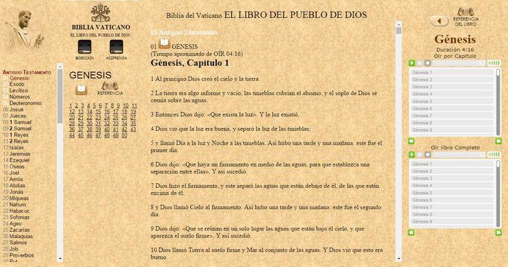 OÍR LA BIBLIA Católica [LIBRO COMPLETO] ONLINE con EL Vaticano VaticanONLINE desde WWW.CATHOLIC.CF