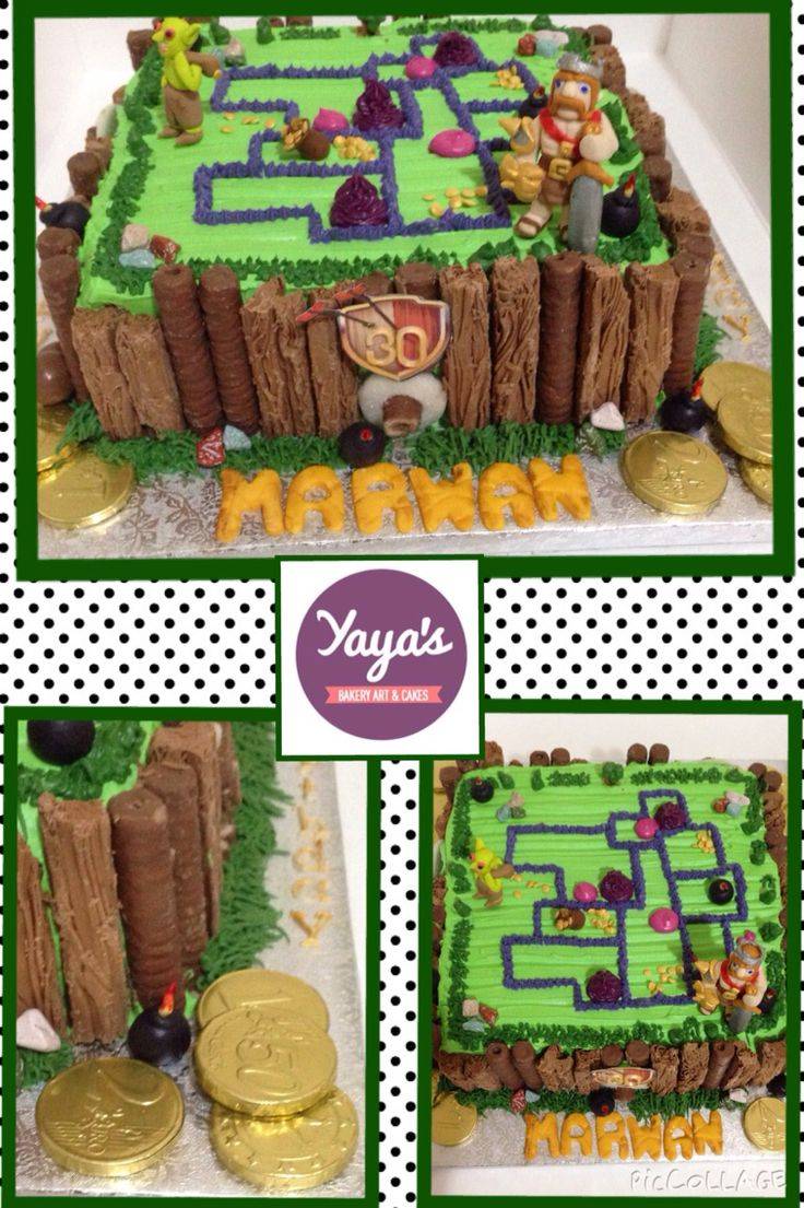 Clash of clans cake by Yaya's