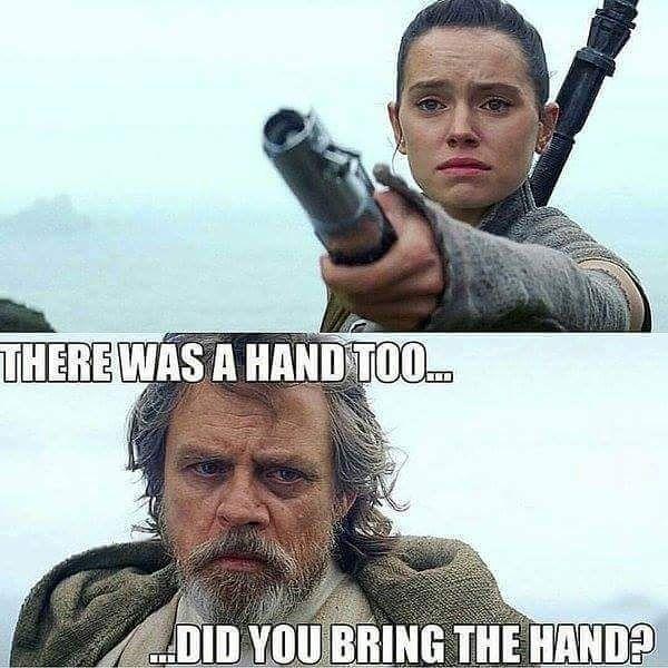 Where's my hand? #starwars #lukeskywalker #rey #lightsaber