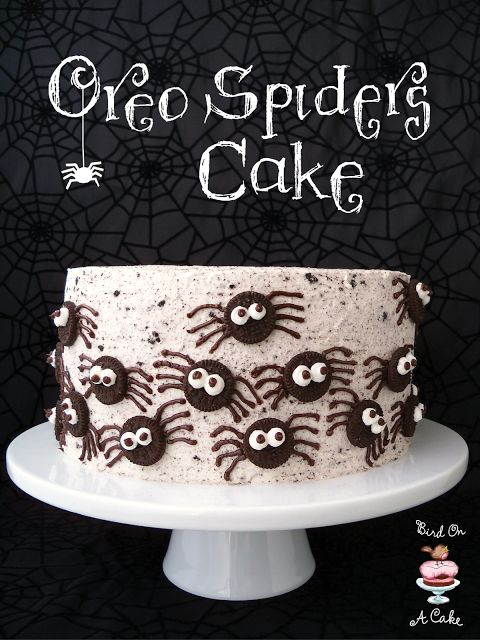 Oreo Spiders Cake - Bird On A Cake
