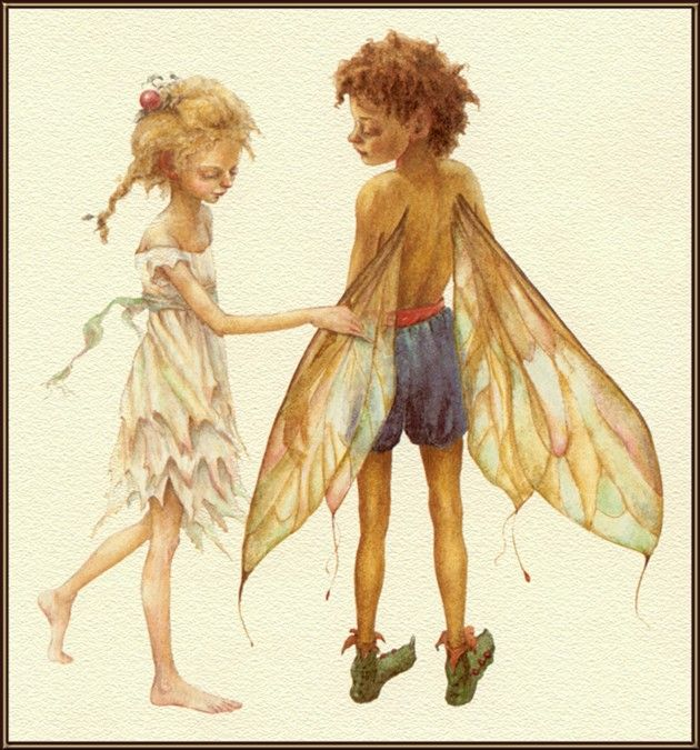 Illustration for Fairy Wings by Lauren Mills and Dennis Nolan ~ Blog of an Art Admirer
