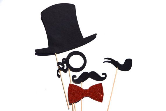 Photo Booth Props  Mr Monopoly  Set of 5 by TheManicMoose on Etsy, $15.00