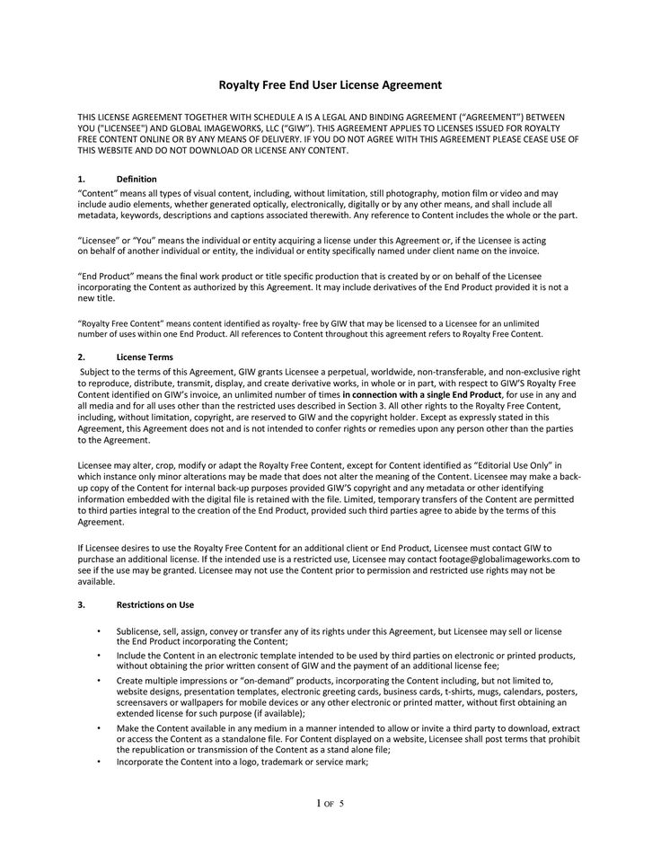 Free License Agreement Template Ready To Download