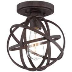 Industrial Atom 8 Wide Edison Bronze Ceiling Light 99.99 lamps plus