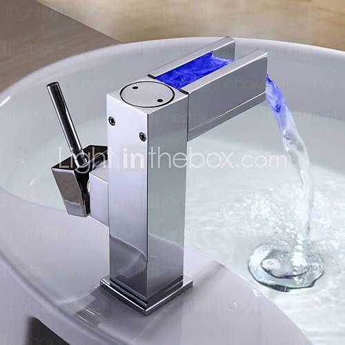 kleur veranderende led badkamer wastafel kraan - blade-serie - EUR € 65.45