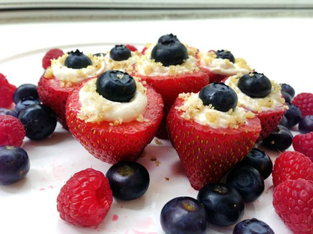Stuffed Strawberries, Healthy Party