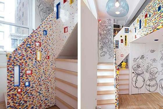 Escalera de lego a escala real