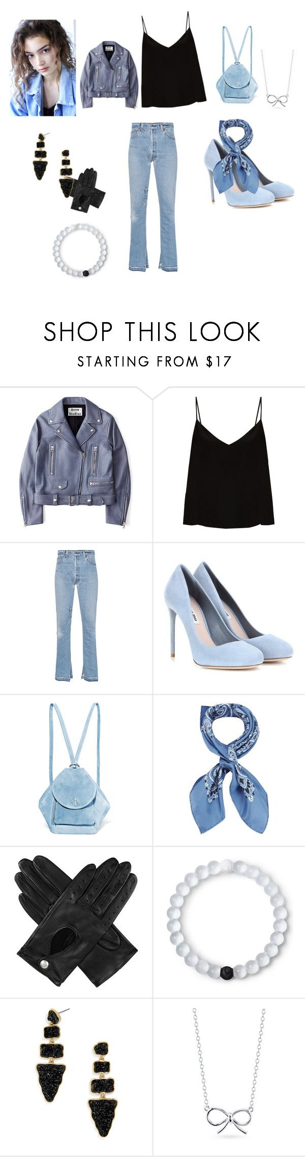"""Голубая луна☺️🌜"" by nastya-anas-mikheeva on Polyvore featuring мода, Acne Studios, Raey, RE/DONE, Miu Miu, MANU Atelier, Manipuri, Dents, Lokai и BaubleBar"