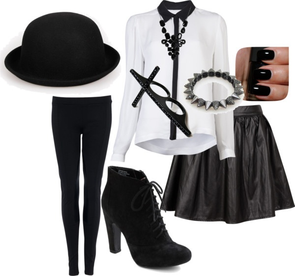 """Black Style !"" by theereemo on Polyvore"