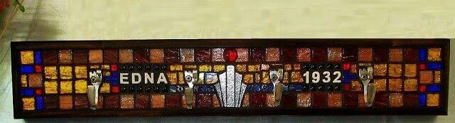 """1932"" mosaic coat rack - 2012 by Kevin McMahon @MosaicAvatar"